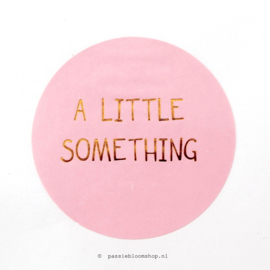 Sluitstickers rond Little something Roze