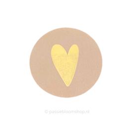 Sluitsticker rond hartje oudroze