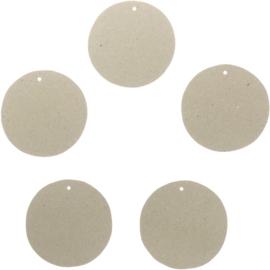 Ronde labels kraft grijs (5stuks)