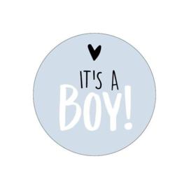Sluitsticker geboorte jongen blauw (6stuks)