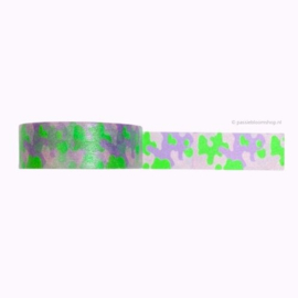 Washi tape camouflage paars groen
