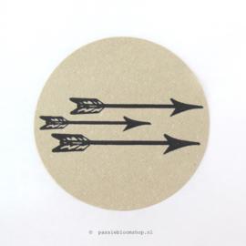 Sluitstickers rond pijlen Kraft