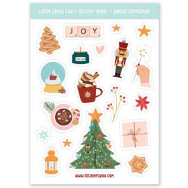 Stickers pastel kerst decoratie