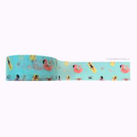 Washi tape zwembad