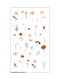 Pastel bloemen stickers