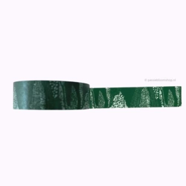 Washi tape patroon groen en wit
