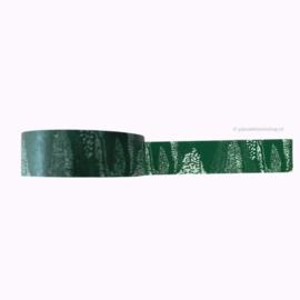Washi tape patroon groen en wit