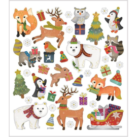 Stickers | KERST | Bos dieren