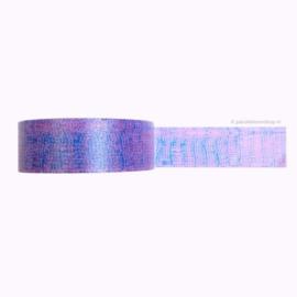 Washi tape printje paars blauw