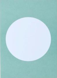 DIY zelf een kaart maken, cirkel mint groen A6