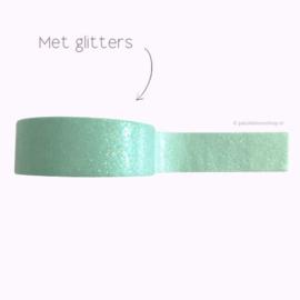 Washi tape met glitters pastel groen