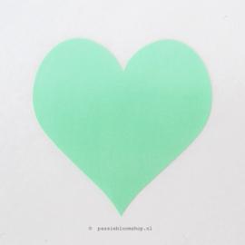 Sticker mint groen hartje