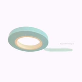 Dun washi tape egaal licht blauw