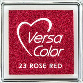 Versacolor |  23 ROSE RED  | Rood stempelkussen