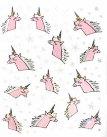 Stickers unicorn roze eenhoorn