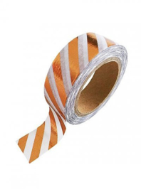 Washi tape | Koper wit strepen
