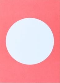 DIY postkaart maken, neon roze
