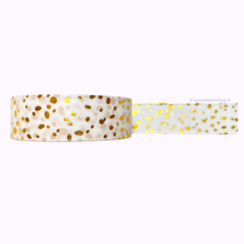 Washi tape confetti goud