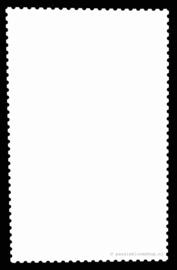 Blanco kaart met zwarte richel rand A6