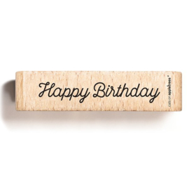 Tekst stempel hout | Happy Birthday