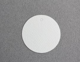 Gift tag blanco rond wit klein | per stuk