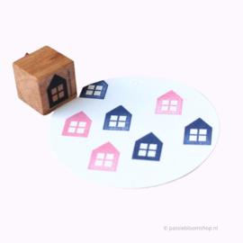 Stempel hout huisje