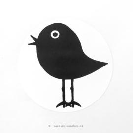 Sluitstickers rond vogeltje