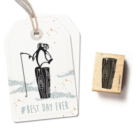 Hout blok stempel groot | 27327 | Cats on Appletrees