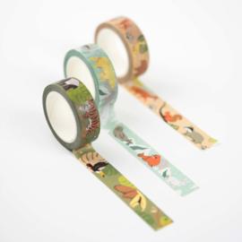 Washi tape jungle dieren