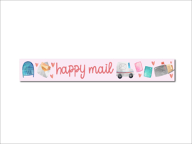 Washi tape happy mail post thema