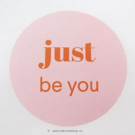 Sluitstickers rond be you Roze