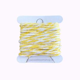 Bakkerstouw geel/wit (5 meter)