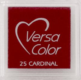 Versacolor Cardinal rood stempelkussen 25