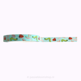 Smal washi tape 7mm zomer beestjes