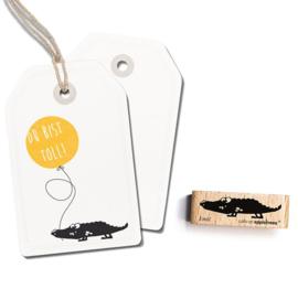 Houten stempel krokodil | Cats on appletrees | 2430