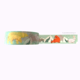 Washi tape noordpool dieren / winter