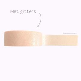 Washi tape met glitters licht roze