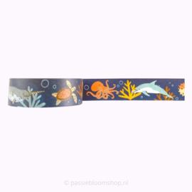 Washi tape vissen in de oceaan zee thema