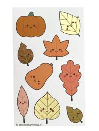 Stickers herfst bladeren groot