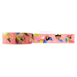 Washi tape roze vogeltjes | Marijke Buurlage