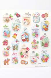 Stickers pastel kerst