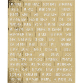 Stickers planner gouden teksten