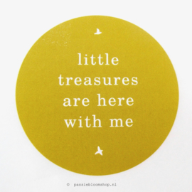 Sluitstickers Little Treasures Geel