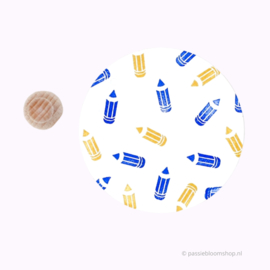 Mini stempeltje M | schrijfwaren, potlood