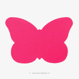 Sluitsticker Neon roze vlinder