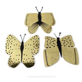 Sluitstickers gouden vlinders