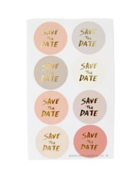 Stickers save the date pastel