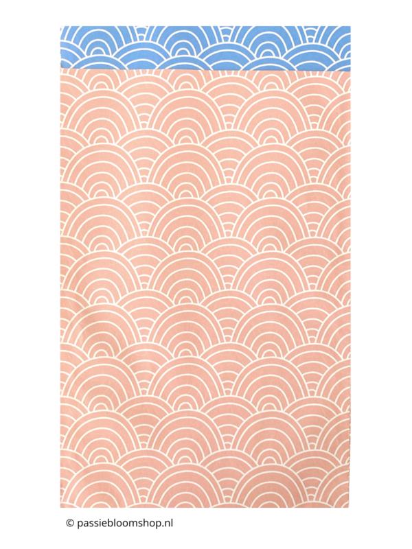 Cadeauzakjes waves  golven patroon roze