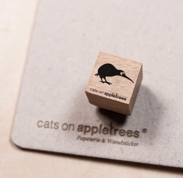 Mini stempeltje kiwi vogel