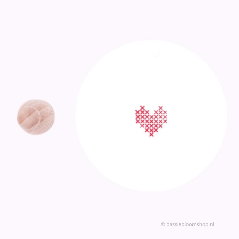 Mini stempel L | HARTJE | geborduurd